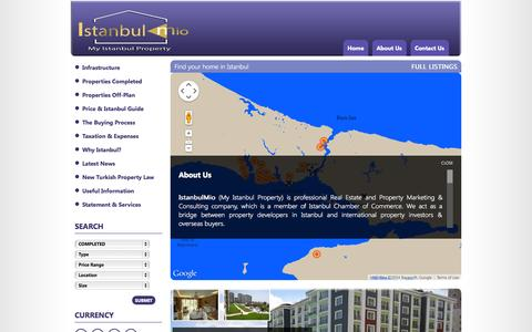 Screenshot of About Page myistanbulproperty.com - IstanbulMio - My Istanbul Property - captured Oct. 6, 2014
