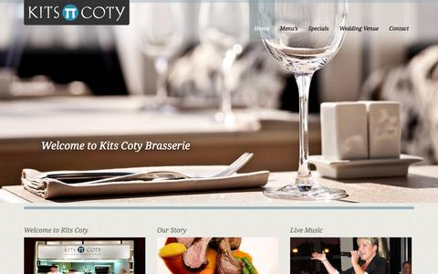 Screenshot of Home Page kitscoty.co.uk - Kits Coty: Private Dining - Brasserie - Restaurant in Maidstone, KentKits Coty | Just another WordPress site - captured Jan. 25, 2015