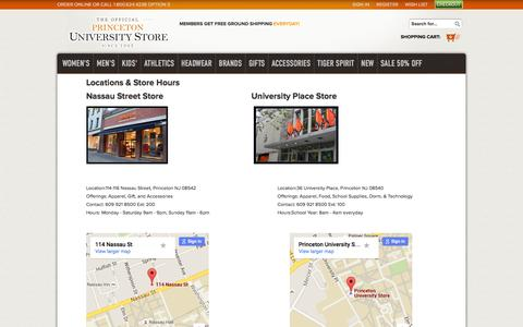 Screenshot of Contact Page pustore.com - Princeton University Store -The U-Store Online - Contact Us - captured Feb. 28, 2016