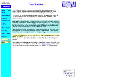 Screenshot of Case Studies Page etw.org - Case studies - captured June 13, 2016