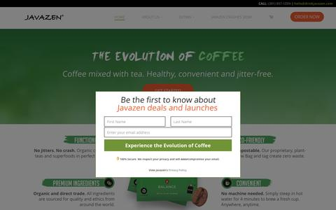 Javazen - Coffee Infused with Tea and Super Foods