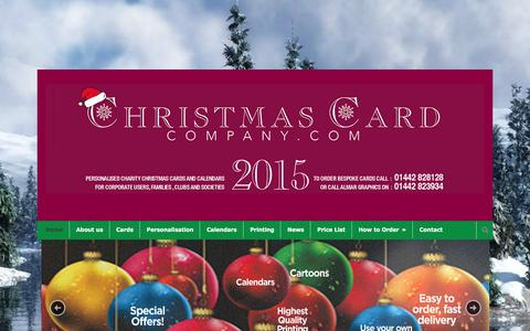 Screenshot of Home Page christmascardcompany.com - Corporate Charity Cards | Personalised Christmas Cards - captured June 15, 2016