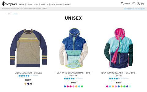 Unisex                      – Cotopaxi