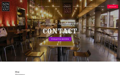 Screenshot of Contact Page nincomsoup.co.uk - Contact — Nincomsoup - captured Oct. 26, 2014