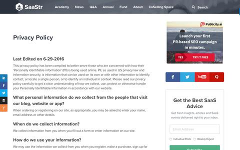 Privacy Policy – SaaStr