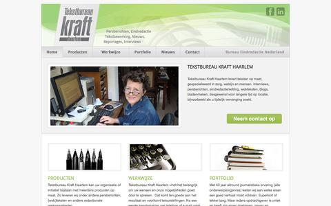 Screenshot of Home Page tekstbureau-kraft.nl - Tekstbureau Kraft Haarlem - captured Sept. 24, 2018