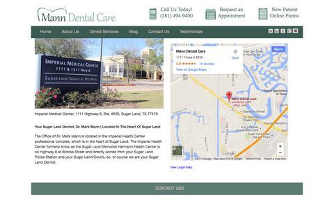 Contact Mann Dental Care