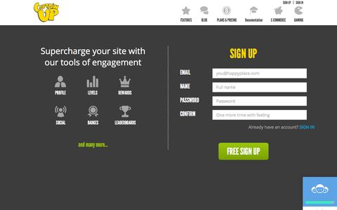 Screenshot of Signup Page captainup.com - Captain Up :: Engagement Platform as a Service - captured Nov. 4, 2015
