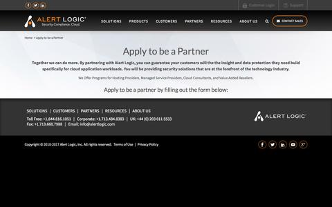 Partner with Alert Logic for Security-as-a-Service