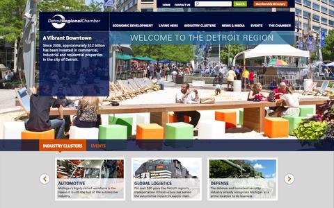 Screenshot of Home Page detroitchamber.com - Detroit Regional Chamber - captured Oct. 5, 2014