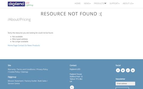 Screenshot of Pricing Page 404 Page digiland-led.co.uk - 404 Page Not Found -Error- Digiland-LED - captured Oct. 10, 2014