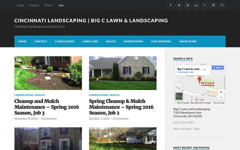 Screenshot of Jobs Page mybigc.com - Jobs – Cincinnati Landscaping | Big C Lawn & Landscaping - captured Nov. 22, 2016