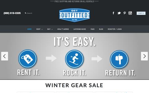 Screenshot of Home Page getoutfitted.com - Rent Ski Apparel & Accessories To Your Doorstep   GetOutfitted - captured Sept. 16, 2014