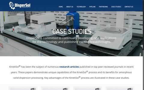 Screenshot of Case Studies Page dispersoltech.com - Case Studies - Dispersol Technologies - captured Nov. 24, 2016