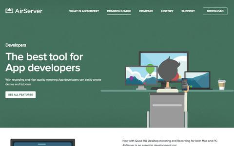 Screenshot of Developers Page airserver.com - Developers ‹ AirServer® - captured Oct. 31, 2014