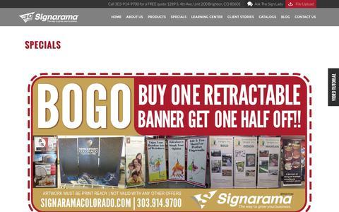 Sign Specials - Discount Signs & Signage for Sale | Signarama Colorado