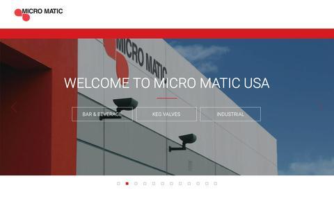 Screenshot of Home Page micromatic.com - Draft Keg Beer Equipment, Taps, Kegerators | Micro Matic USA - captured Oct. 23, 2015