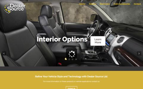 Screenshot of Home Page dealersourceltd.com - Dealer Source   (210) 366-9919 - captured June 17, 2015