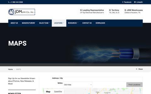 Screenshot of Maps & Directions Page jdmartin.com - MAPS - JD Martin Company - captured Nov. 11, 2018