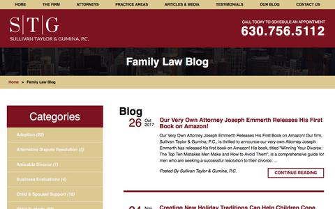 Screenshot of Blog stglawfirm.com - Family Law Blog | Family Law Attorney in Naperville - captured Oct. 27, 2017