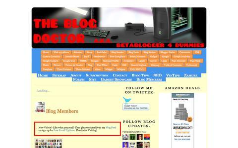 Screenshot of Home Page blogdoctor.me - Blog for Money | The Blog Doctor. - captured April 29, 2017