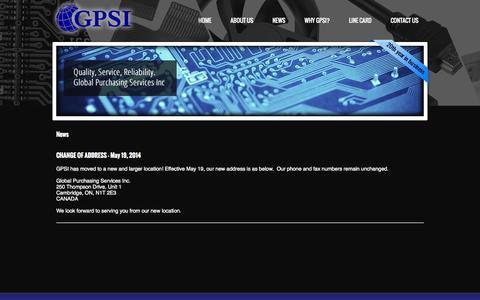 Screenshot of Press Page gpsi.ca - News GPSI - captured Nov. 2, 2014