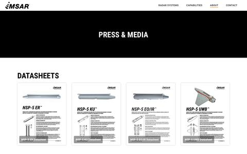 Screenshot of Press Page imsar.com - Press & Media – IMSAR - captured Oct. 4, 2017
