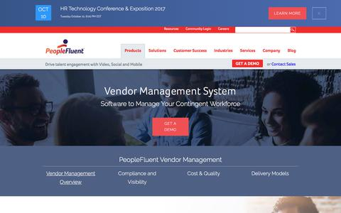 Vendor Management System | Contingent Workforce Software | PeopleFluent