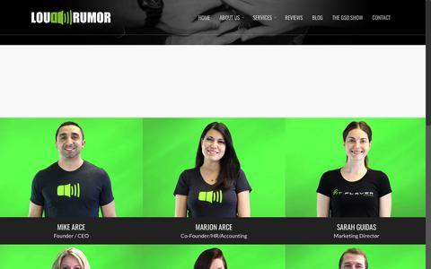 Screenshot of Team Page loudrumor.com - Our Team | Loud Rumor - captured May 23, 2017