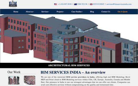 Screenshot of Home Page bimservicesindia.com - BIM Services Provider in India & USA – Top BIM Consulting Company - captured April 25, 2018