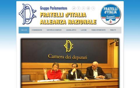 Screenshot of Home Page fdi-ancamera.it - Organi - Gruppo Camera FdI-AN - captured Jan. 28, 2017
