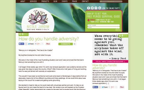 Screenshot of Blog nicolejardim.com - Nicole Jardim - Everything You Need To Fix Your Period - captured Oct. 26, 2014