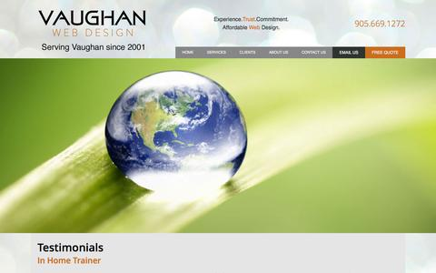 Screenshot of Testimonials Page vaughanwebdesign.com - Testimonials | Vaughan Web Design - captured Feb. 13, 2016