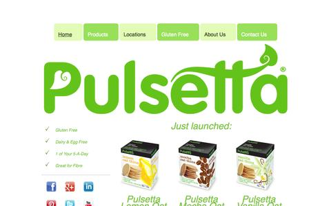 Screenshot of Home Page pulsetta.com - Home - captured Oct. 3, 2014