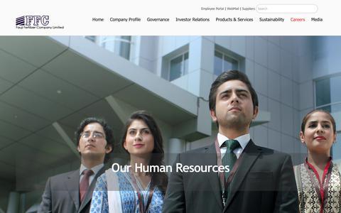 Screenshot of Jobs Page ffc.com.pk - Careers – Fauji Fertilizer Company Limited - captured Sept. 22, 2018