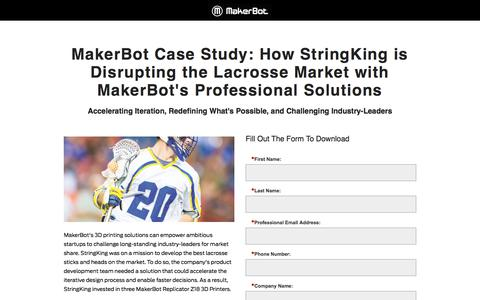 Screenshot of Landing Page makerbot.com - MakerBot Success Stories: Iterate on Ideas and Bring Products to Market Faster - captured June 10, 2018