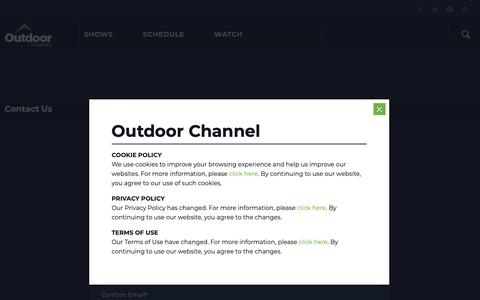 Screenshot of Contact Page outdoorchannel.com - Contact Us - Outdoor Channel - captured Nov. 12, 2018
