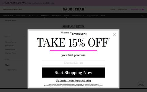 Shop All Rings   BaubleBar