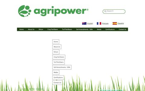 Screenshot of Site Map Page agripower.com.au - AGRIPOWER THE SILICON SOLUTION TO AGRICULTURE - captured Nov. 20, 2016