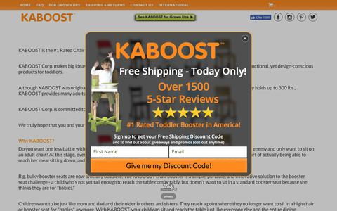 Screenshot of About Page kaboost.com - KABOOST | About Us - captured Oct. 16, 2017