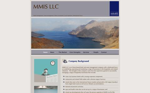 Screenshot of Home Page mmis.co - Mid-range hotel operators and investors | Asset managers - captured Nov. 11, 2018