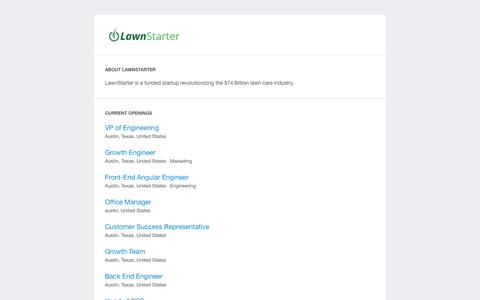 Screenshot of Home Page lawnstarter.com - LawnStarter, The Easiest Way To Order Lawn Care   | The Easiest Way To Order Lawn Care - captured July 3, 2015
