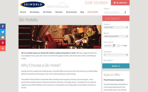 Ski Hotels | Ski Accommodation with Skiworld