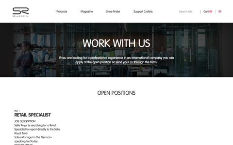 Screenshot of Jobs Page selleroyal.com - Work with us | Selle Royal - captured Sept. 19, 2016