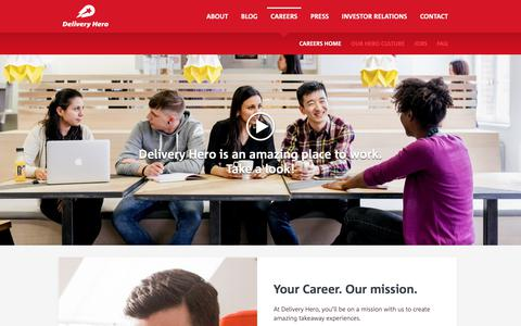 Screenshot of Jobs Page deliveryhero.com - Careers | Delivery Hero : Delivery Hero - Always delivering an amazing experience. - captured June 14, 2019