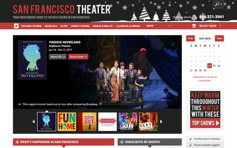 Screenshot of Home Page san-francisco-theater.com - San Francisco Theater: Broadway Shows, Musicals, Plays, Concerts in 2016/17 - captured Nov. 24, 2016