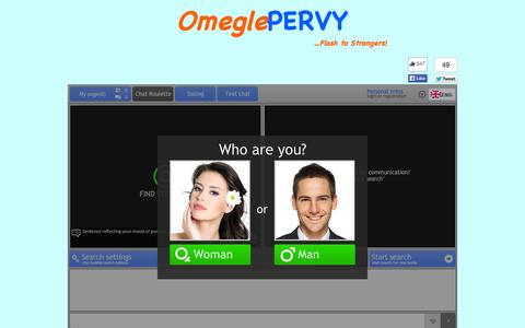 Screenshot of Home Page omeglepervy.com - OmeglePervy: Omegle Alternative - Talk To Strangers - captured Sept. 23, 2014