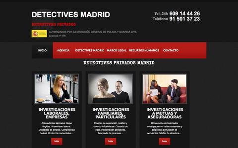Screenshot of Blog detectives-madrid.com - Detectives Privados en Madrid - captured June 4, 2016
