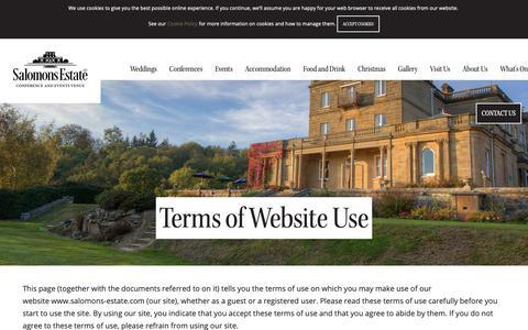 Screenshot of Terms Page salomons-estate.com - Salomons Estate   Terms of Website Use - captured Nov. 6, 2018