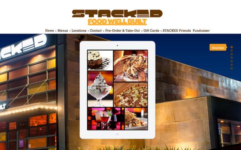 Screenshot of Home Page stacked.com - Stacked: Food Well Built - captured Oct. 11, 2015